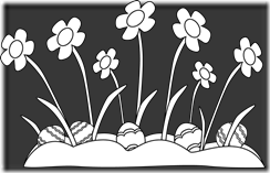 easter-eggs-hidden-in-the-grass-black-white